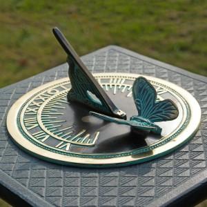 Verdigris 'Butterfly' Sundial - 175mm
