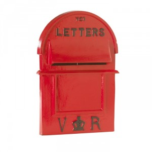 Victorian Style Red Pillar Box Front