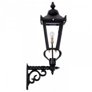 Black Victorian Wall Light on a Ornate Royale Bracket