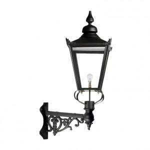 Large Black Victorian Wall Light On Corner Bracket