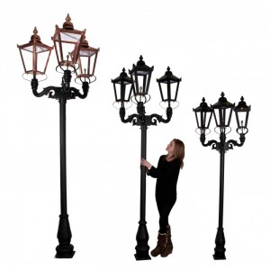 Deluxe Triple Headed Lamp Post Set