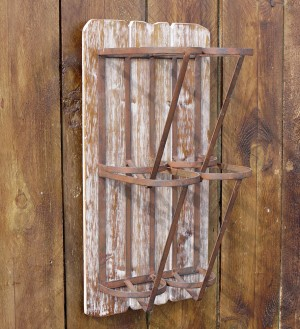 Vintage Barn-Style Wine Holder