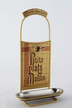 """""""Le Viandier Delightful"""" Pan Lid rest with French theme"""