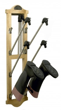 Wall Mounted equestrian Boot rack with horse heads