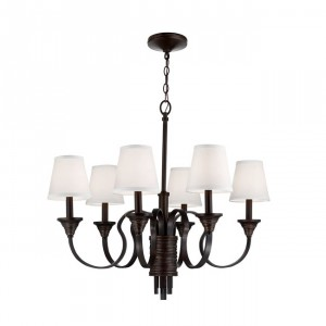 Weathered Brass Traditional Chandelier