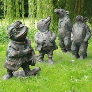 """""""Wind In The Willows"""" Garden Sculpture Set"""