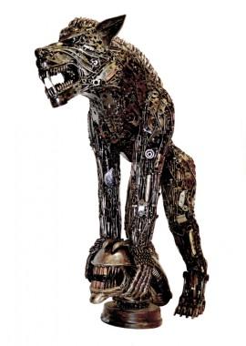 """Lupin Moon"" Wolf Sculpture"