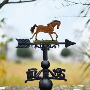 Hand Painted Stallion Weathervane in Cast Iron
