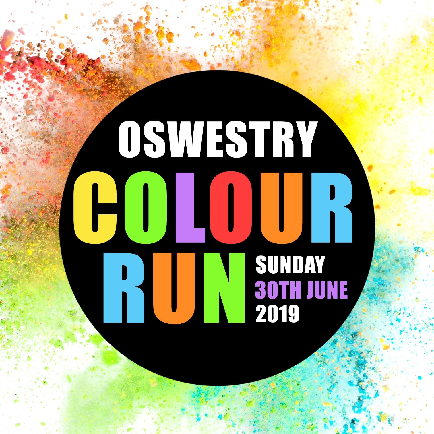 Oswestry Colour Run 2019