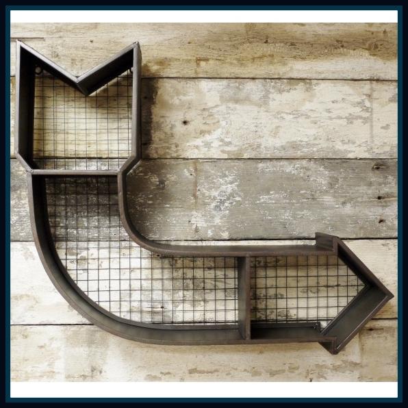 Metal Arrow Shelf