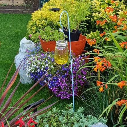 Shepherds crook garden lantern support