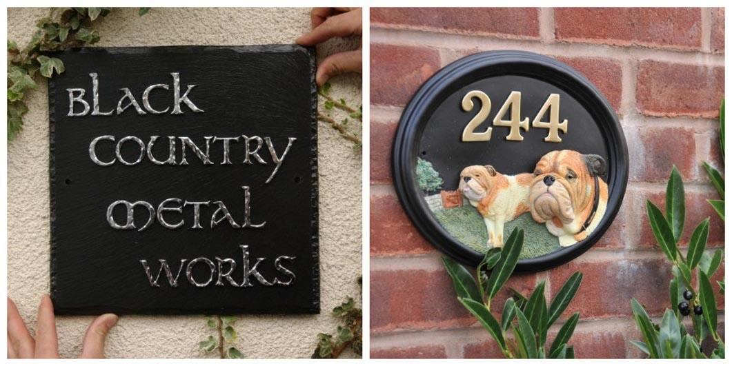 Cast Resin House Signs