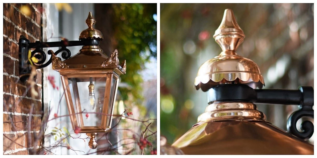 Copper Lantern Close-Up