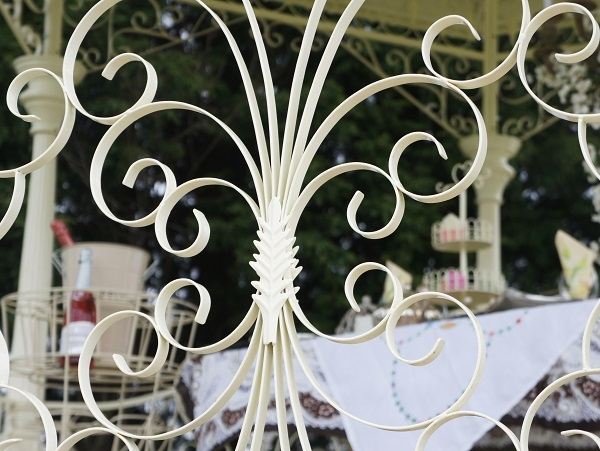 Cream Gazebo Scroll Work