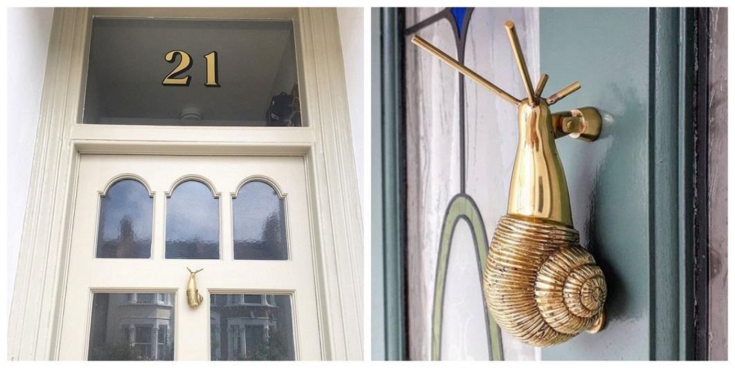 Snail Door Knocker Customer Pictures