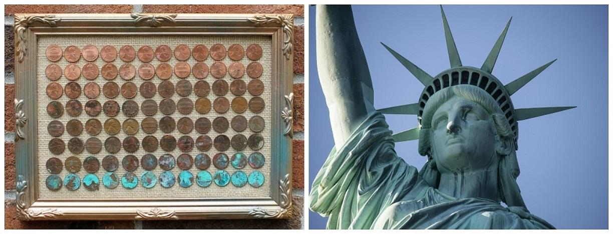 Copper Ageing Process and Statue of Liberty