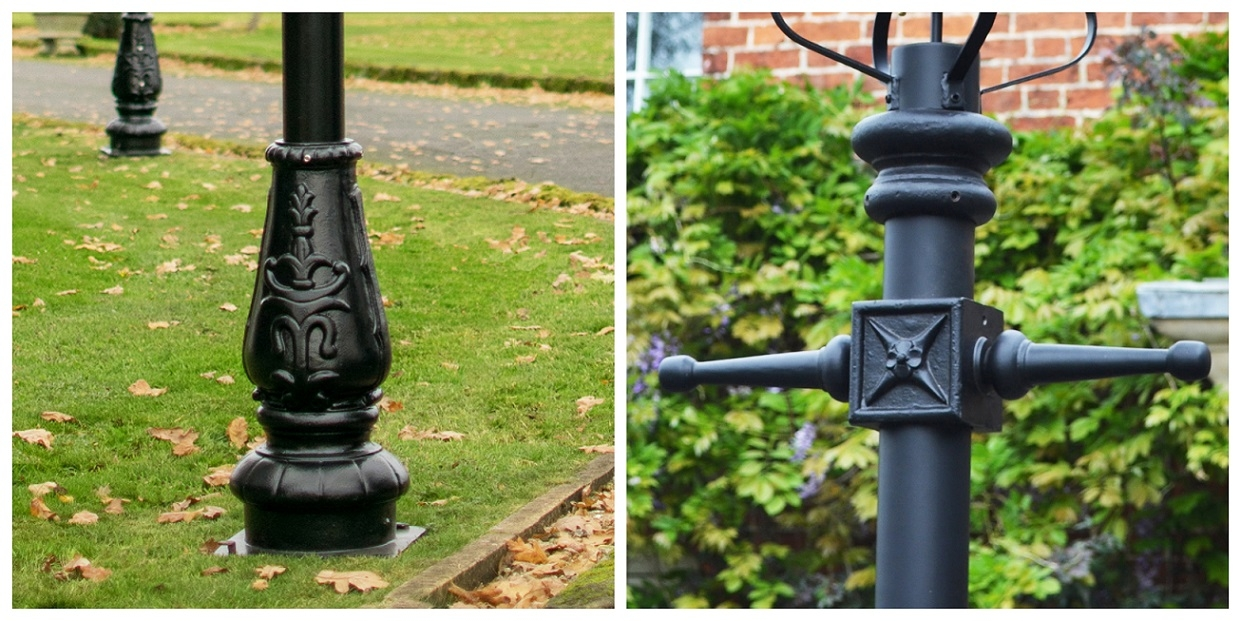 Cast Iron Lamp Post Base + Ladder Bar