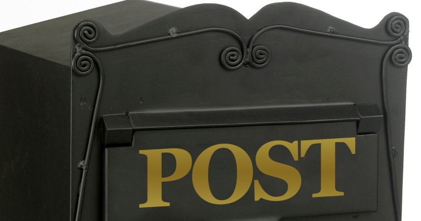 Scrolled Detailing on Postbox for Gates