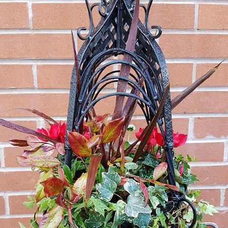 Black Ornate Hanging Basket
