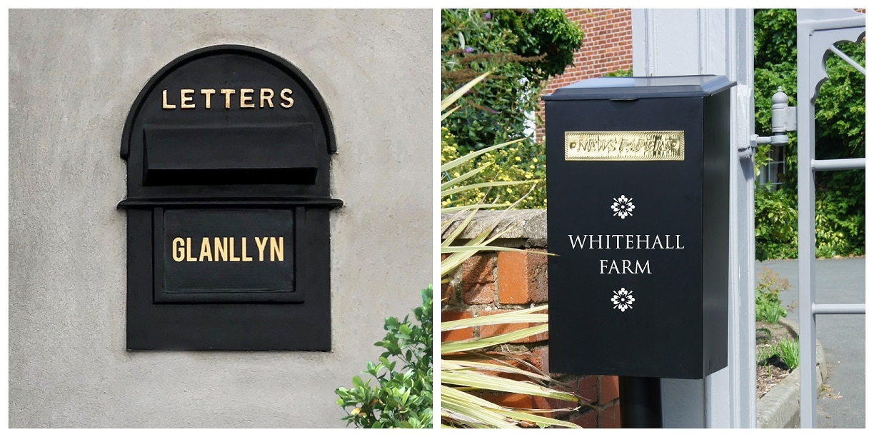 Personalised Post Box Font Colours