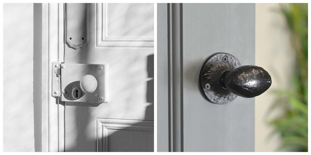 Installed Rim Locks & Rim Knobs