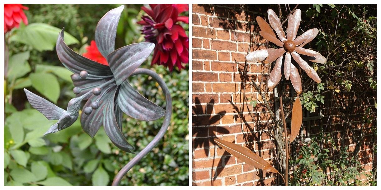 Rustic Metal Flowers