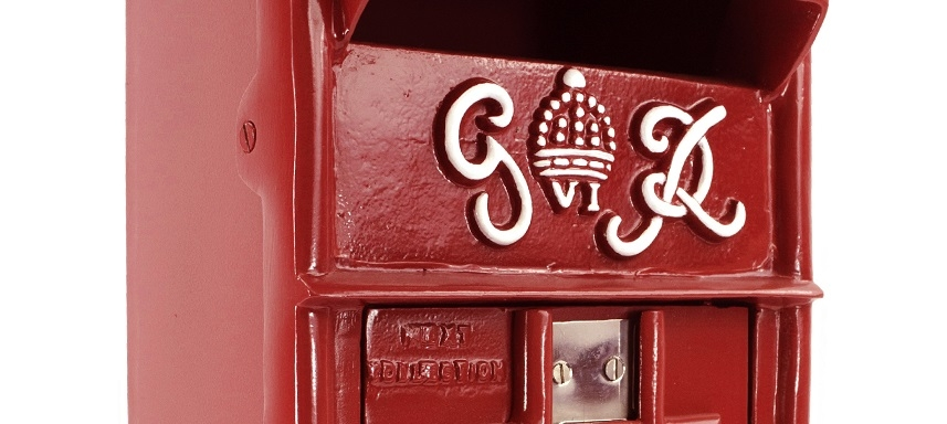Slim King George Post Box