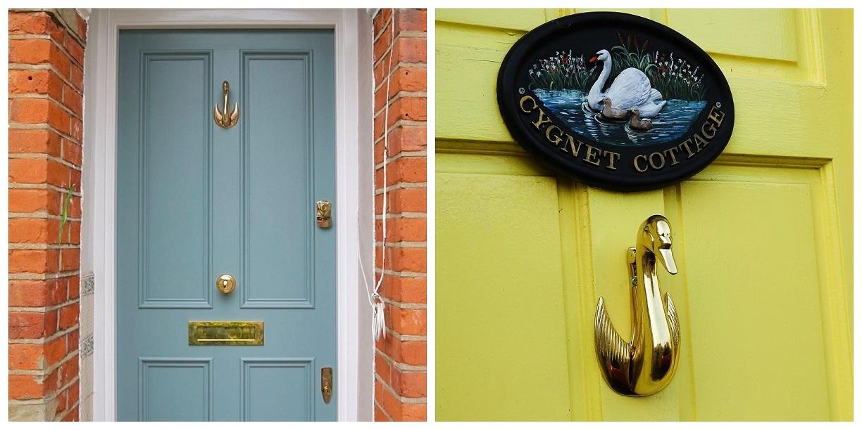 Swan Door Knockers Customer Pictures