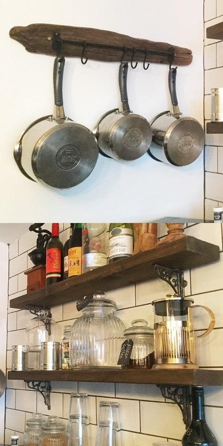 Rustic shelf brackets