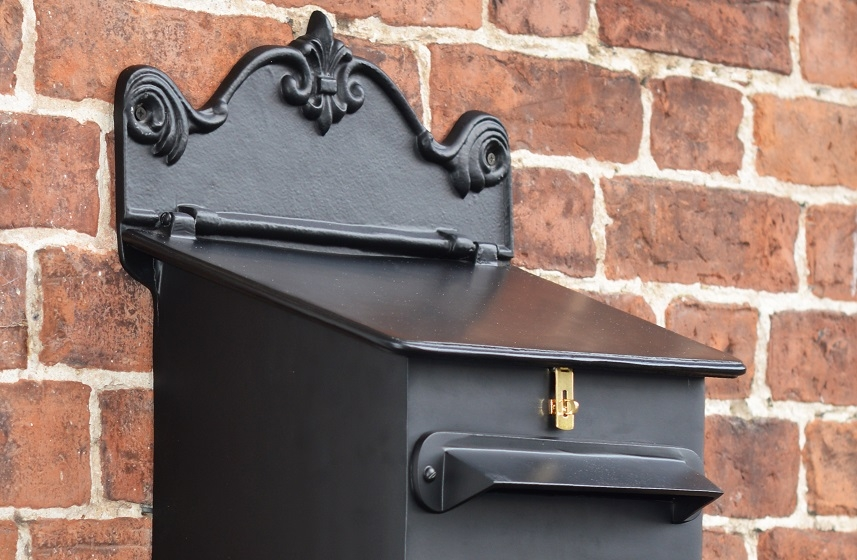 Wall Mounted Secure Post Box In Black