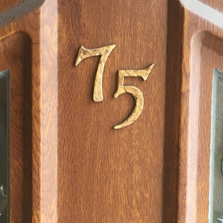 Rustic Copper House Numbers