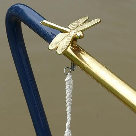 Dragonfly tiller pin