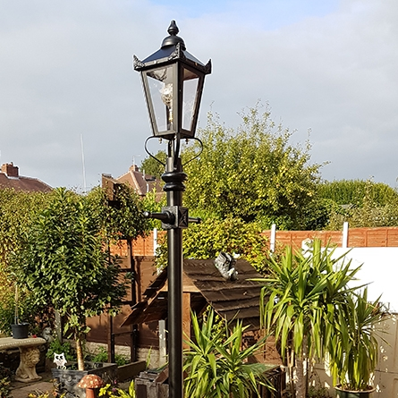 Medium Victorian lamp post