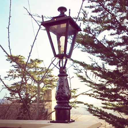 Garden pillar light