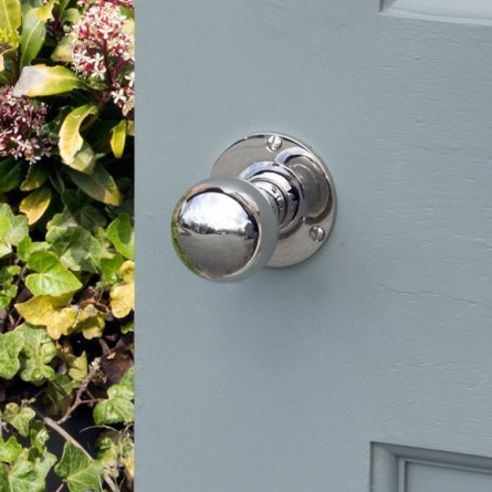 Chrome door knob
