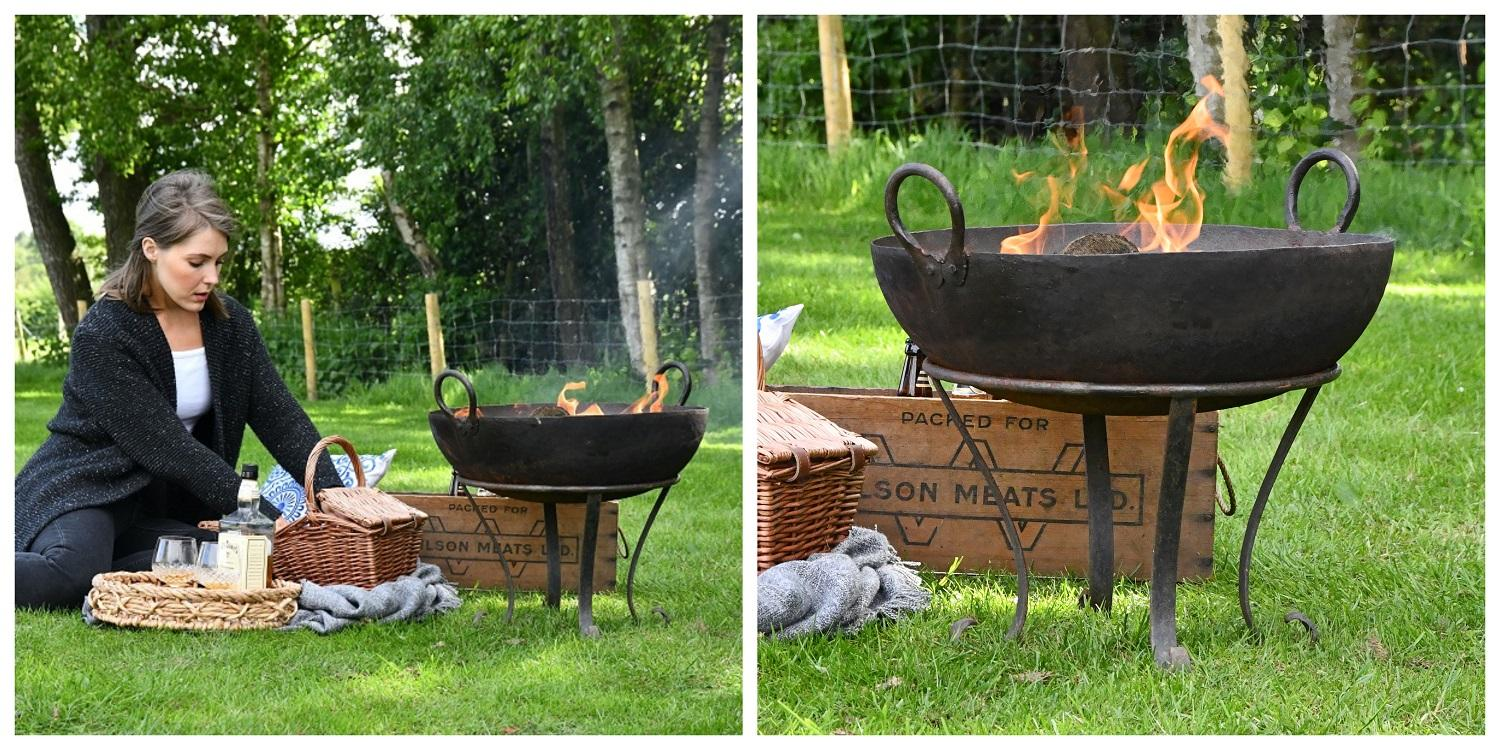Wood Burner and Kadai Bowl