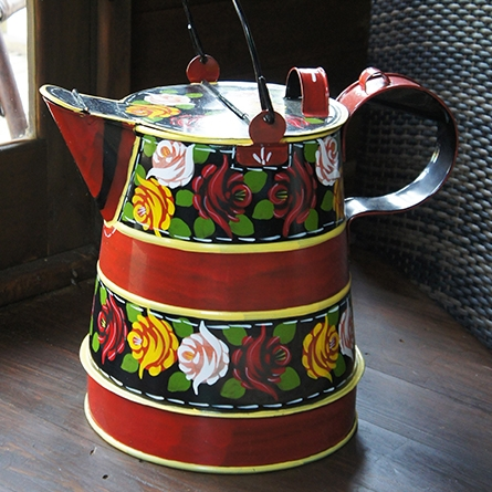 Canal boat painted watering can