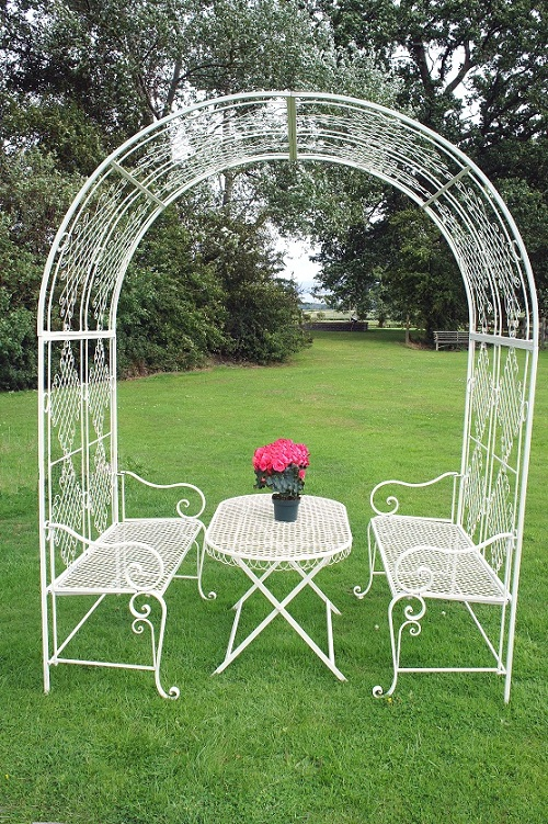 clancy manor rose arch dining collection iron garden
