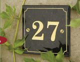 Granite House Number Plaques