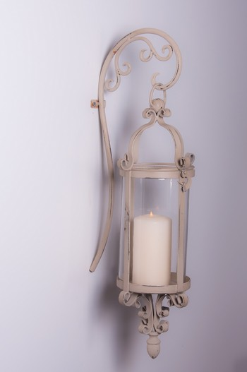 ?Alenya Rose? Wrought Iron Candle Wall Lantern - Outdoor Candle Lanterns and Votives - Garden ...