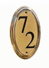 Polished Brass Lacquer Engravable Oval Plaque