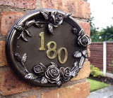 Cast Oval Hand Painted House Number Plaques