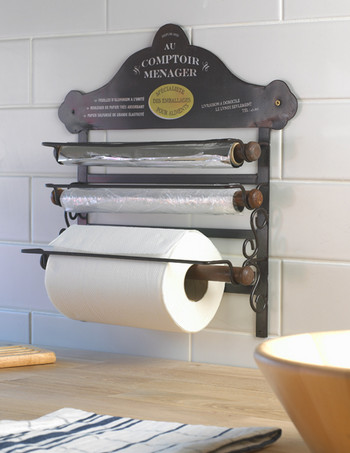 Kitchen Roll Holder Au Comptoir Menager Black Country