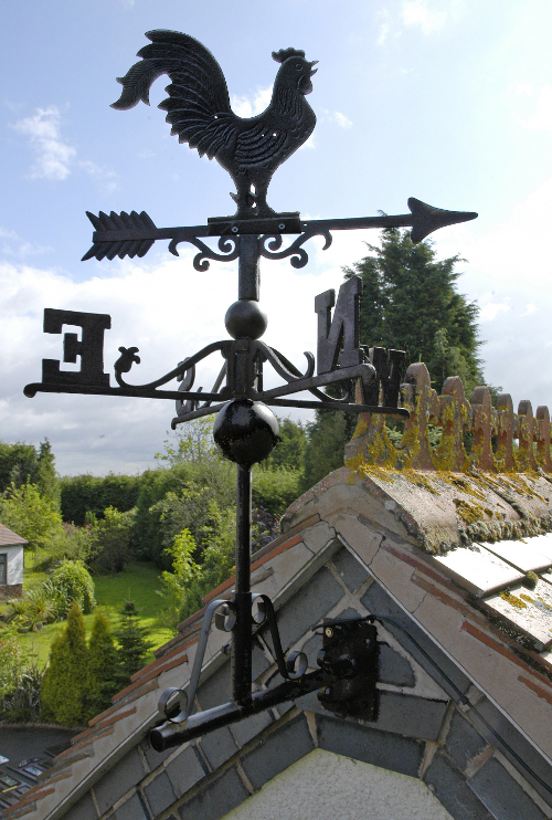 Black Cast Iron Rooster Weathervane Weathervanes In Cast
