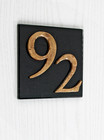 Black Modern Glass House Number Sign