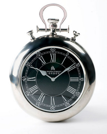 Bond street pocket watch wall clock black country metal works - Giant stopwatch wall clock ...