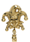 Polished Brass Jester Door Knocker