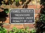 Cast Iron Large Private Property Sign