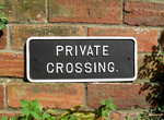 Cast Iron Private Crossing Sign