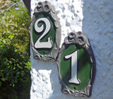 Cameo Reflective House Number Plaques